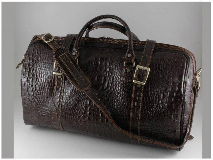 Italian High Quality Leather Travel Bag - Berlin