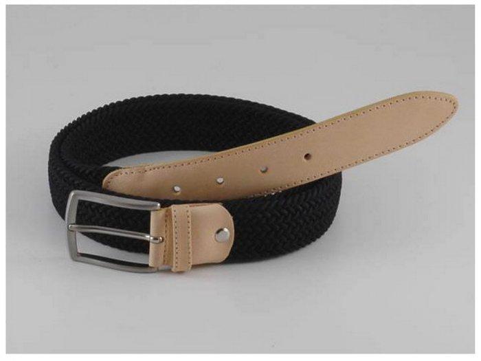 Italian High Quality Stretch Leather Fabric Lady Belt