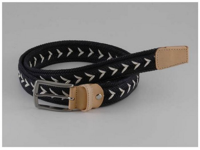 Italian High Quality Cloth Leather Woman Belt