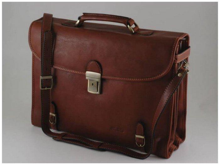 Italian HighQuality CalfskinLeather Briefcase-Viareggio