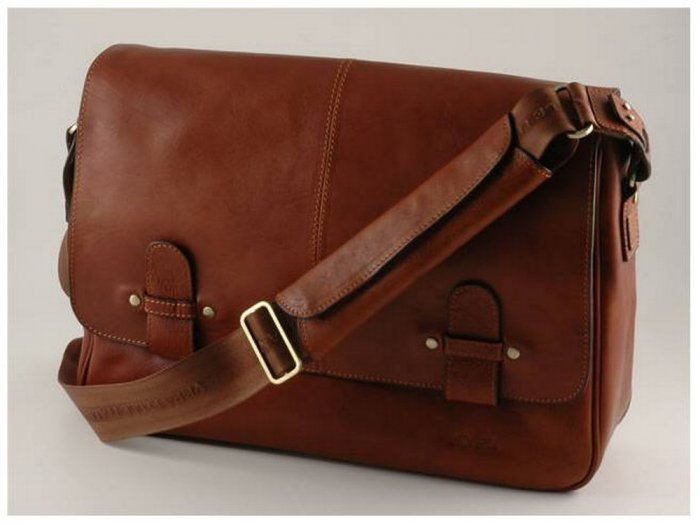 Italian High Quality Calfskin Leather Briefcase -Verona
