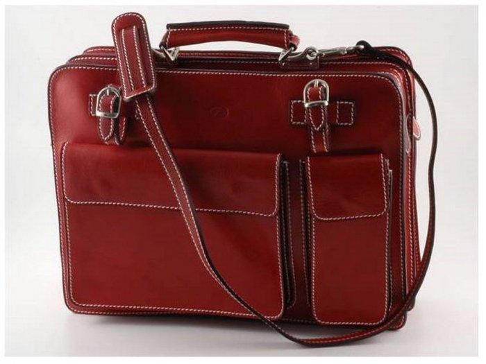 Italian High Quality Calfskin Leather Briefcase-Venezia