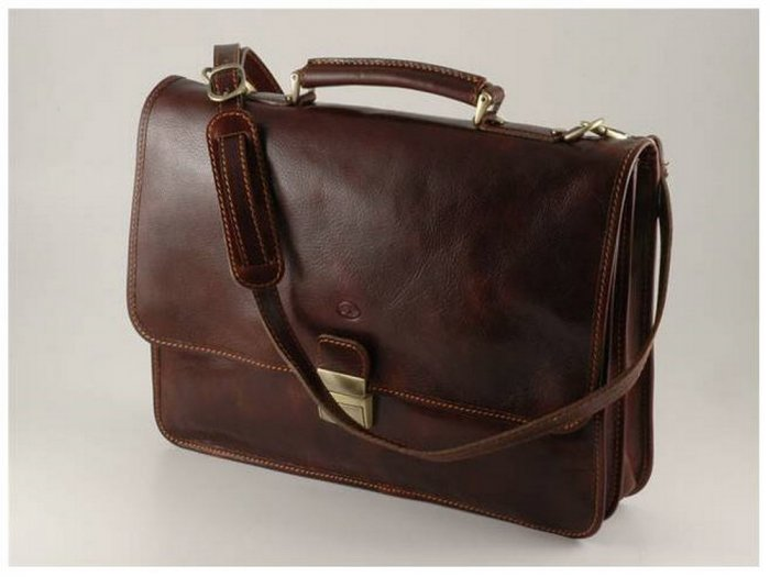 Italian High Quality Calfskin Leather Briefcase -Torino