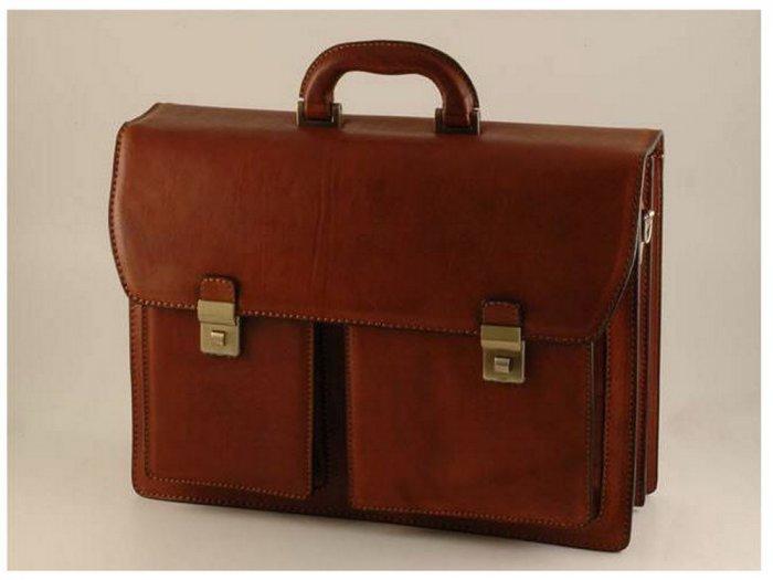 Italian High Quality Calfskin Leather Briefcase -Arezzo