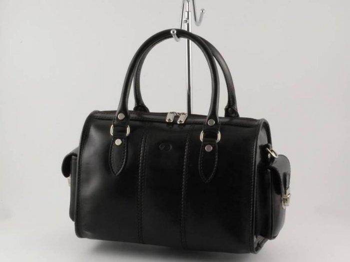 Italian Polished Calf-Skin Leather Mini-Duffle - Marta
