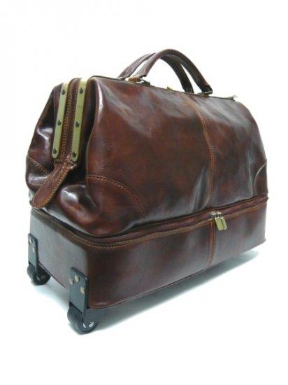 Italian High Quality Leather Travelbag -PelleveraMontai