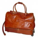 Italian High Quality Leather Travel Trolley - Pellevera