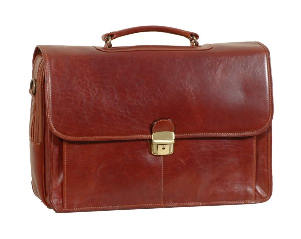 Italian High Quality Leather LaptopBriefcase- Pellevera