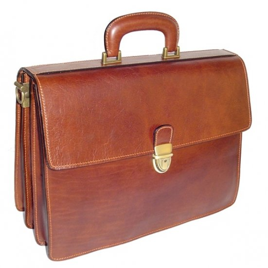 Italian High Quality Leather Briefcase - Pellevera