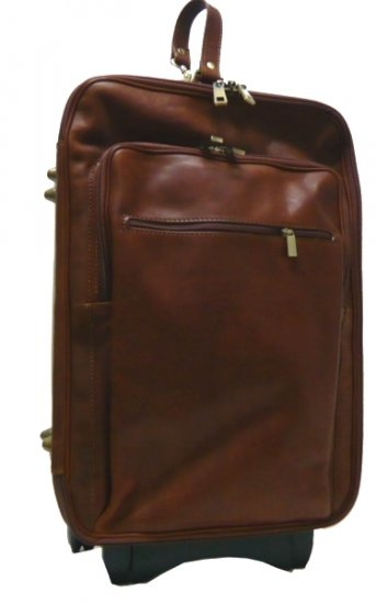 Italian High Quality Leather Trolleybag - Pellevera