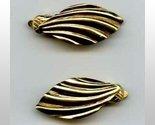 Trifari goldtone shell clip earrings