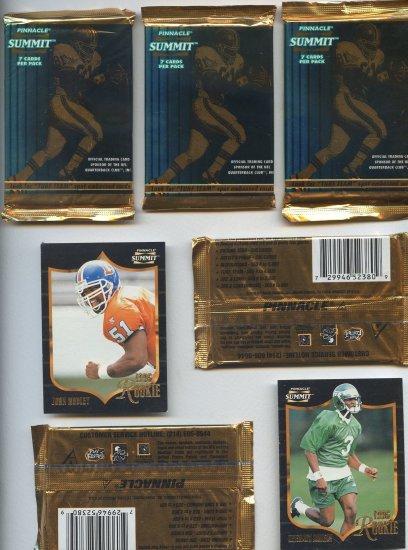 Pinnacle summit football cards 7 cards per pack