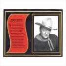 John Wayne Biography Plaque