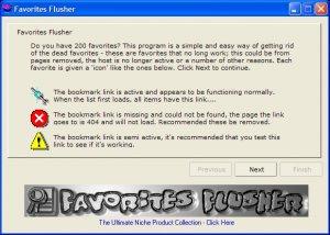 Favorites Flusher Software.. No More DEAD Favorites!