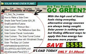SOLAR Cooking Info  & Windturbines Links