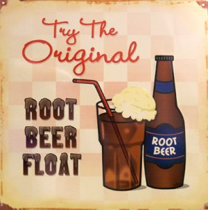 TIN SIGN - Root Beer