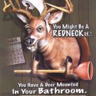 TIN SIGN - Jeff Foxworthy Deer Bathroom