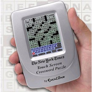 EXCALIBUR ELECTRONIC TOUCH SCREEN CROSSWORD PUZZLE