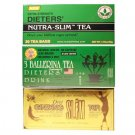 Diet Tea Sampler Bundle (56 Bags): Triple Leaves Brand Nutra-slim, 3 Ballerina, Ginseng Slim