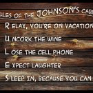 Rules of Cabin - Personalized