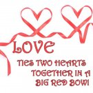 Two Hearts Tied Together With a Big Red Bow