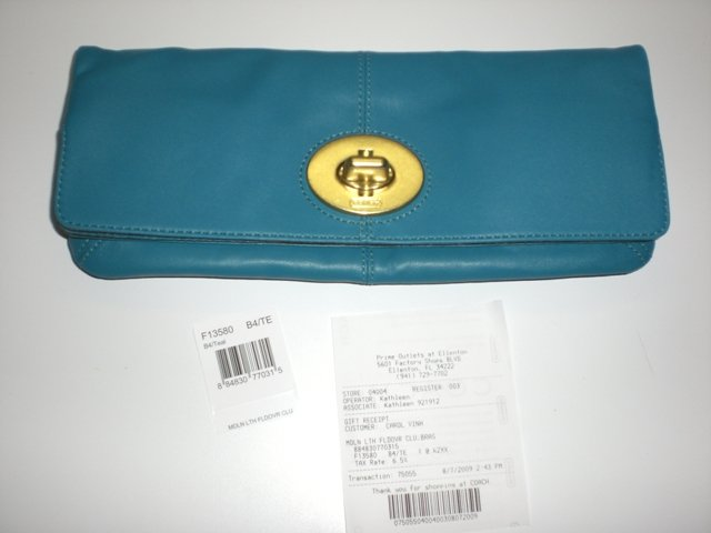 AUTHENTIC - COACH Foldover Clutch From the Madeline Collection NEW!