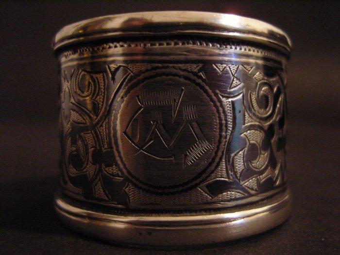 Russian Silver Niello Napkin Ring