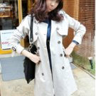 Double Buttons Basic Trench Coat