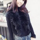 Short Sleeves with Fur Collar Jacket