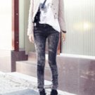 Skinny Fit Wash Jeans