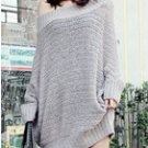 Off Shoulder Loose Fit Knit