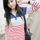 Stripe Top with Collar