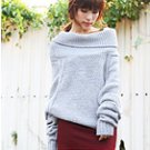 Loose Fit Turtle Neck Knit