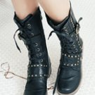 Studs Leather Boots