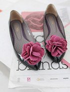 Corsage Point Toe Flats