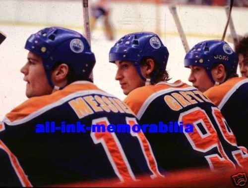 Gretzky Messier Kurri NHL 1987 Oilers Colour 8X10 Photo