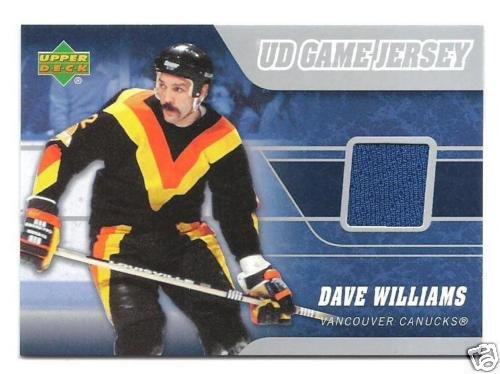 ~Dave Tiger Williams 2006/07 UD Game Used Jersey Card~