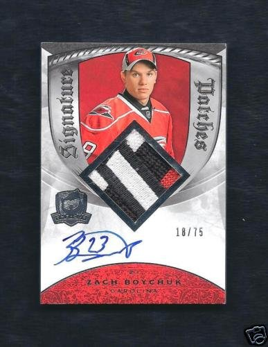 Zach Boychuk 2008-09 UD The Cup Signature Patches 18/75