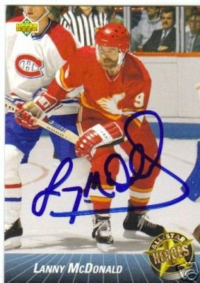 ~Lanny McDonald Autographed Hockey Card 93 UD All Star~