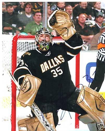 ~Marty Turco Autographed Hockey 8x10 Photo Dallas Stars