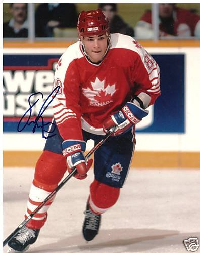 ~Eric Lindros Autographed Hockey 8x10 Photo Team Canada