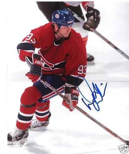 ~Doug Gilmour Autographed Hockey 8x10 Photo Canadiens~
