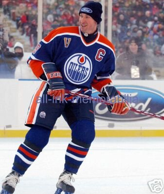 Wayne Gretzky Oilers 8x10 Colour Photo Heritage Classic