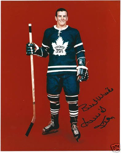 Dave Keon HOF Autographed Hockey 8x10 Photo Maple Leafs
