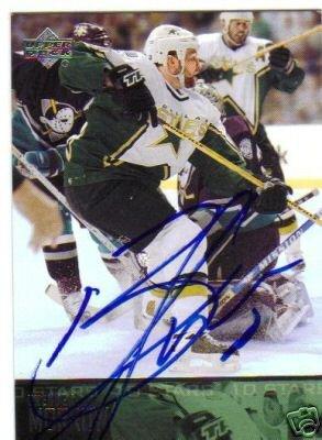 ~Brenden Morrow Autographed Hockey Card Dallas Stars~