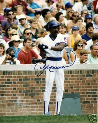 ~Andre Dawson Autographed Baseball 8x10 Photo Cubs~