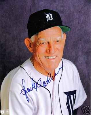 ~Sparky Anderson Autographed Baseball 8x10 PhotoTigers~