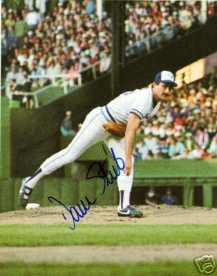 ~Dave Stieb Autographed Baseball 8x10 Photo Blue Jays~