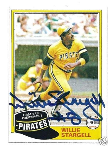 ~Willie Stargell Pirates Autographed Baseball Card dec~