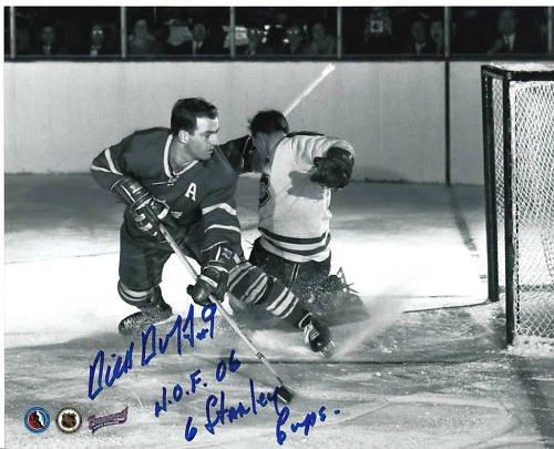 ~Dick Duff Maple Leafs NHL HOF Autographed 8x10 Photo~